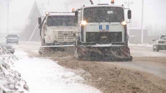 С раннего утра в Тамбове ликвидируют последствия апрельского снегопада