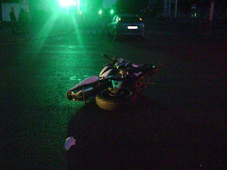 В центре Тамбова ночью разбилась молодая байкерша