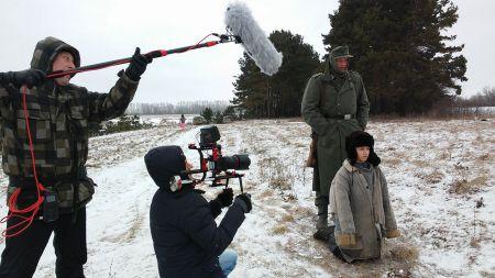 Съемочная группа фильма о Космодемьянской полностью вкусила прелести зимы под Тамбовом