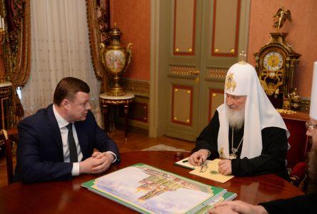 Святейший Патриарх Кирилл встретился с Александром Никитиным