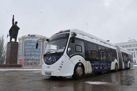 Электробус вышел в первый рейс по Тамбову