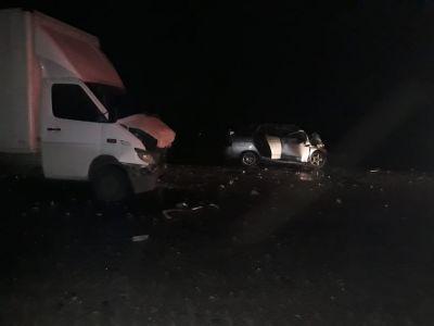 В Тамбовской области ВАЗ врезался в Мерседес, погибла девушка