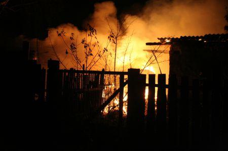 В Тамбове на Интернациональной ночью тушили пожар