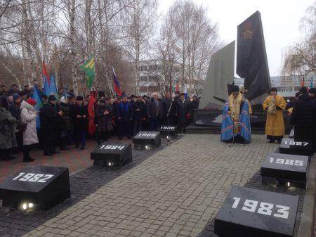 В Тамбове открыли памятник воинам-землякам, погибшим в Афганистане