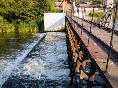 В Тамбове понизили уровень воды в Цне