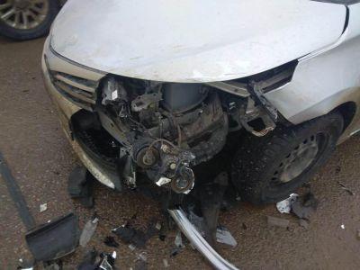 В Тамбове столкнулись две иномарки: есть пострадавший