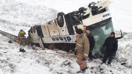 В Тамбовской области на трассе столкнулись два пассажирских автобуса