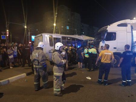 В Тамбове в больнице умерла пассажирка автобуса, столкнувшегося с фурой