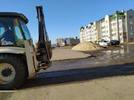 В Тамбове на Магистральной по обращениям жителей начали ремонт проезда